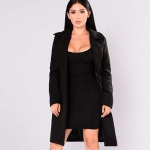 FashionNova Upper East Side Coat in Black